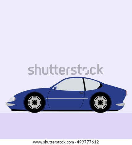Classic Car Side View Car Automobile Stock Vector Royalty Free