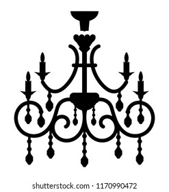Classic chandelier vector icon design