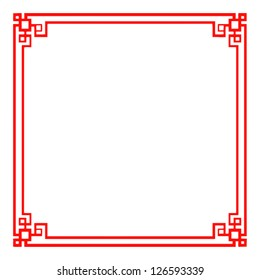 Classic Chinese red frame