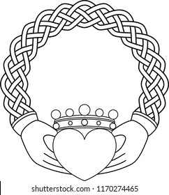 Classic Claddagh in Knotted Braid