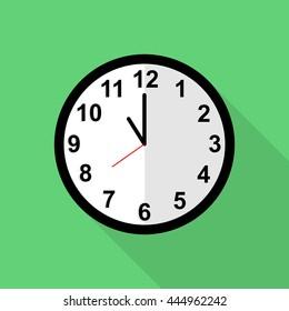 Classic clock icon, 11 o'clock