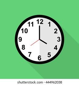 Classic clock icon, 4 o'clock