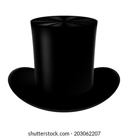 Classic cylinder hat on a white background.