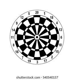 classic dartboard vector with a white background