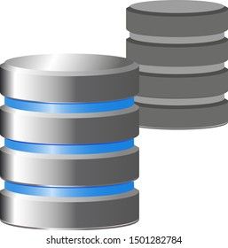 Classic database icon copy. Vector icon.