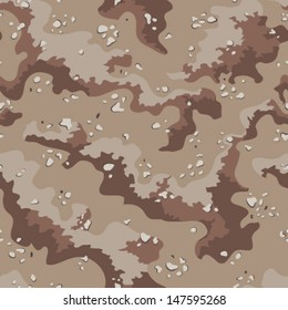 Classic Desert Camo Pattern (Seamless Repeatable Vector Camouflage)