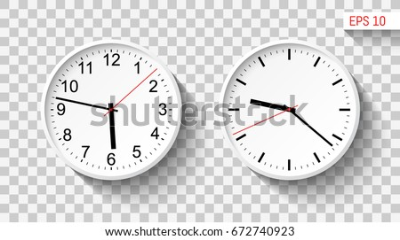 Classic Design Wall Clocks Template Your Stock Vector Royalty Free