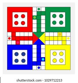 Classic family board game, Vector ludo board family game