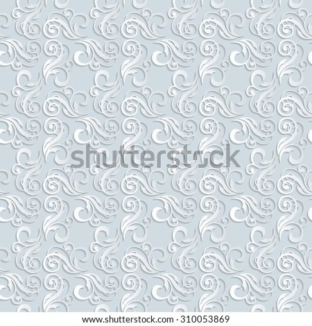 Classic Gothic Floral Wallpaper Background Pattern Stock Vector