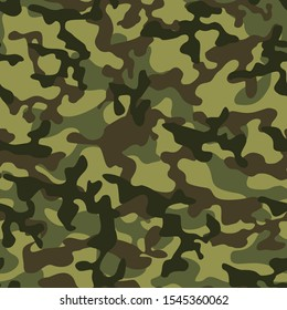 Classic green military camouflage seamless pattern. Army background. Modern design. Print.Texture