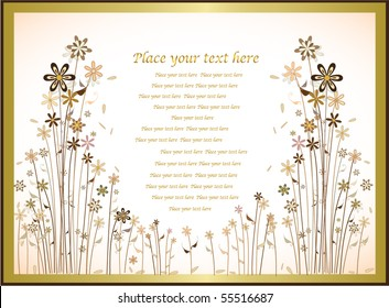 classic greeting card for invitation or congratulations