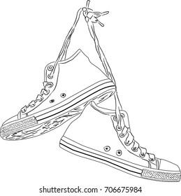 Sneakers Hanging Images, Stock Photos \u0026 Vectors