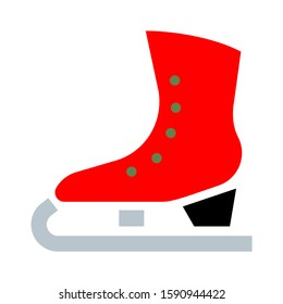classic ice figure skates icon vector. Sport equipment. Side view
