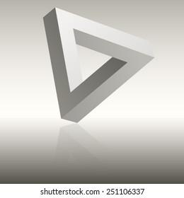 Classic illusion, impossible triangle