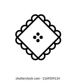 Classic Lacework Ornament Icon Line Art