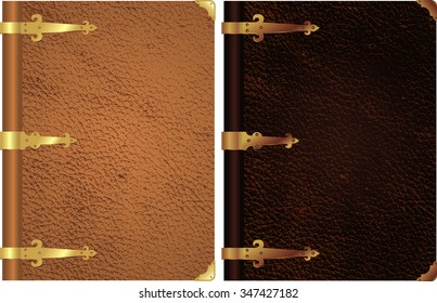 Classic Leather Book cover-Gold accent decorative book cover in two variation