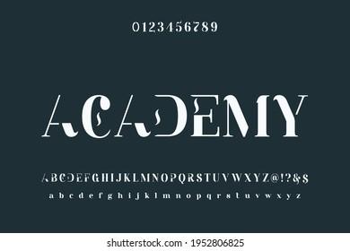 classic lettering, blue style background, alphabet font