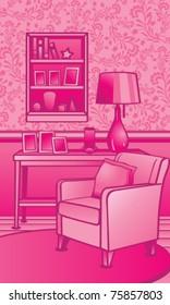 Classic Living Room Illustration