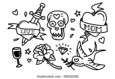 Classic love collection tattoos