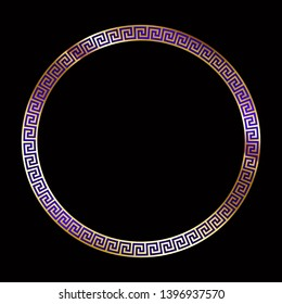 Classic Meander Pattern - Glamor Round Meandering Cadre - Brilliant Ornament of Ancient Greece