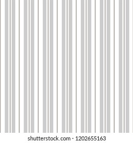 Classic men's shirting stripe in warm neutral colors, white and gray / grey. Seamless vector pattern. Great for textiles, stationery, home decor, gift wrapping paper, product packaging. Sophisticated.