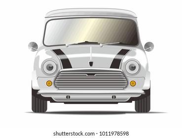 Classic mini car vector