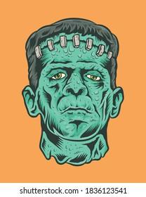 Classic Monster frankenstein in Vector Illustration