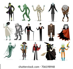 classic monsters creatures collection