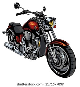 Classic motorcycle drawn vector