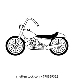 classic motorcycle vehicle icon