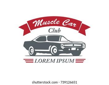 Classic Muscle Car Logo Vector Illustration Stock Vector Royalty