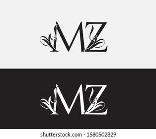 Classic M,Z and MZ Letter Luxury Logo Icon