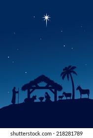 Classic Nativity scene.