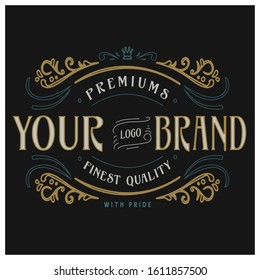 classic ornament title for your clothing brand and apparel design