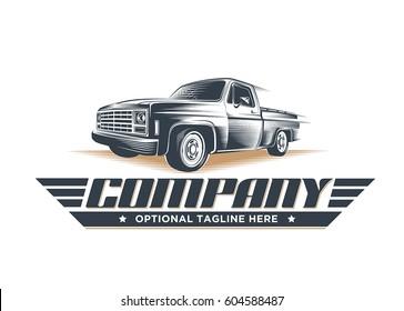 Classic pickup truck illustration / logo template