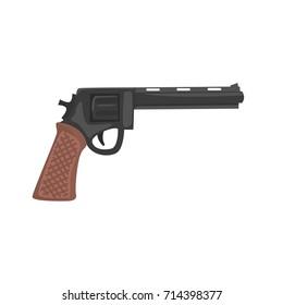 Classic pistol gun cartoon vector Illustration