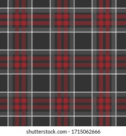 Classic Plaid Tartan (black,Gray,red, white) Seamless Pattern for shirt printing,clothes, dresses, tablecloths, blankets, bedding, paper,quilt,fabric and other textile products. Vector illustration