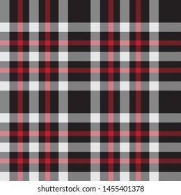 Classic Plaid Tartan Seamless Print Pattern