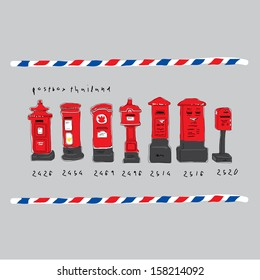 classic post box in thailand