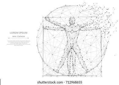 Black And White Human Body Art Diagram