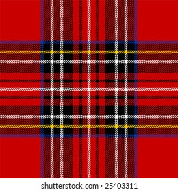 Classic red tartan fabric. Seamless square pattern.