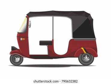 Classic Rickshaw Vector