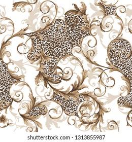 classic seamless baroque pattern