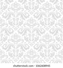 Classic seamless vector pattern. Damask orient ornament. Classic vintage background. Orient light ornament for fabric, wallpaper and packaging
