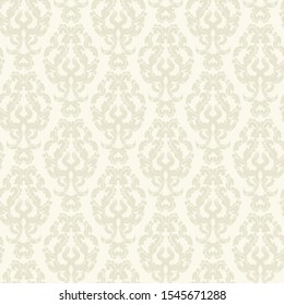 Classic seamless vector Wallpaper . Damask Oriental ornament. Vintage background