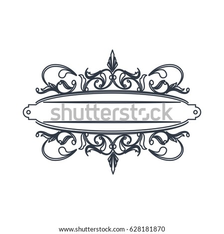classic signboard swirls decoration template stock vector royalty