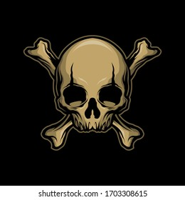 classic skull and bone for commercial use