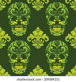 Classic Skull Ornamental Pattern