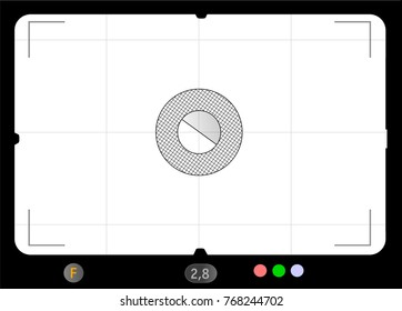 Classic SLR viewfinder w. focusing screen,free space for your pics, vector