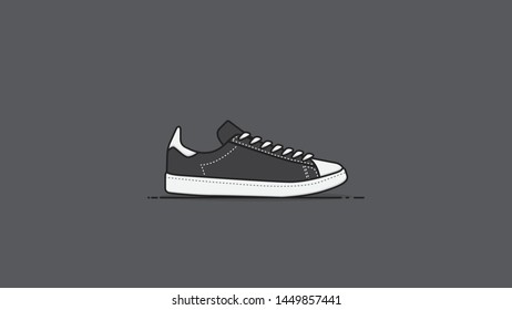 classic sneakers shoes flat design vector illustration